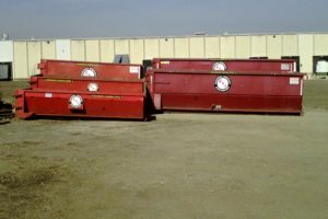 Standard dumpster sizes used by E&J Disposal Company